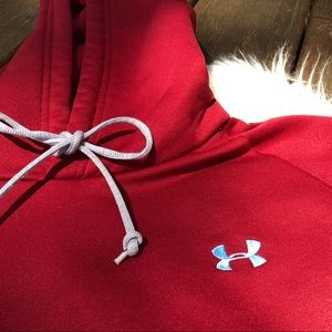 Under Armour Tops - Red under armour hoodie